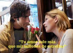 """""""Tu amor vale más que mil millones de estrellas"""" #frases para #conquistar y de #amor"""