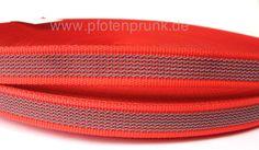 gummiertes Gurtband in rot als Meterware