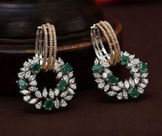 Real Diamond Earrings, Diamond Necklace Set, Emerald Earrings, Trendy Jewelry, Fine Jewelry, Fashion Jewelry, Jewellery Sketches, Temple Jewellery, Jewelry Patterns