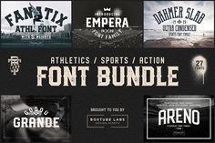 Sports Font Bundle BTL.1 by BoxTube Labs on @creativemarket