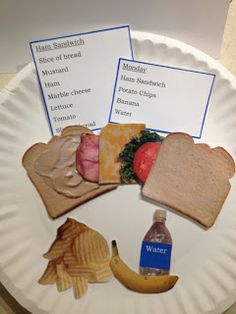 Printable life skill lunch packing task!