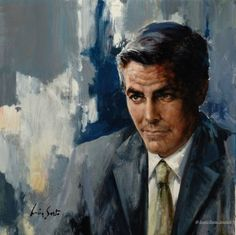 George Clooney Portrait by Lucia Sarto.