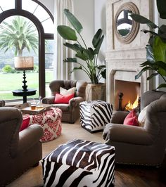 Add large exotic plant for luxury oriental feeling