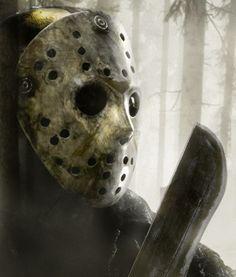 Jason on the hunt ... Horror Films, Horror Movie Tattoos, Horror Icons, Horror Art, Freddy Krueger, Michael Myers, Friday The 13th, Happy Friday, Slasher Movies