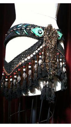 Bespoke Antique Materials Professional Caliber Tribal Fusion Belly Dance Belt