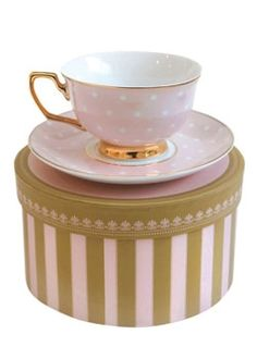 Cristina Re - **NEW** Blush Polka tea cup and saucer set WANT!!