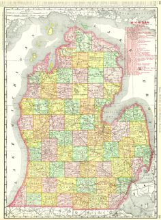 Michigan mi state old map mitchell 1847 digital image scan download s new business atlas map of michigan michigan southern published rand mcnally co publicscrutiny Image collections