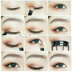 Trendy Makeup Tutorial Beginner Make Up Ideas Korean Makeup Look, Korean Makeup Tips, Asian Eye Makeup, Natural Eye Makeup, Eye Makeup Tips, Korean Makeup Ulzzang, Korean Makeup Tutorial Natural, Makeup Ideas, Makeup Inspo