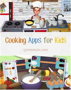 Apps teaching kids cooking - safe and fun way to teach kids about healthy food choices. #kidsapps #health #food #nutrition