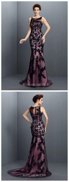 2015 High-neck &lace sleeveless floor-length evening dress #elegant