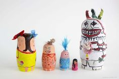 American Horror Story Freakshow nesting dolls! Twisty the clown, Bet and Dot Tatler, Pepper, Meep and Ma Petite!