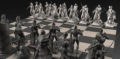 The -Frazetta Chess Set- Commission for Heads or Tales Coin Co - This commission…