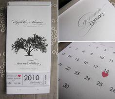 Pretty Chic Blog – Modern Scandinavian Weddings , Archive » Invitationer: Vores save the date kort – kalendere