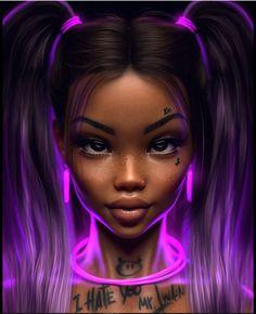 Art Black Love, Black Girl Art, Black Art Painting, Black Artwork, Dibujos Tumblr A Color, Drawings Of Black Girls, Black Girl Cartoon, Black Art Pictures, Afro Art