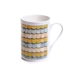 China Mug yellow blue bone china mug multi geometric teacher gift... ($20) ❤ liked on Polyvore featuring home, kitchen & dining, drinkware, birthday mugs, blue drinkware, mom mug, yellow mugs and mother mug