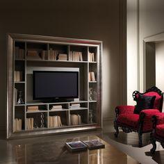Large Designer Champagne Leaf TV Unit
