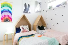 customised IKEA beds - Sharon & Phil's Bright, Modern Western Australian Home — House Tour