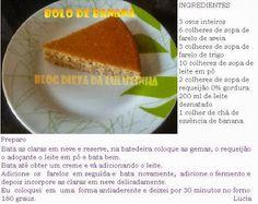 Dieta Dukan - Dieta da Luluzinha: BOLO DE BANANA E BISCOITO