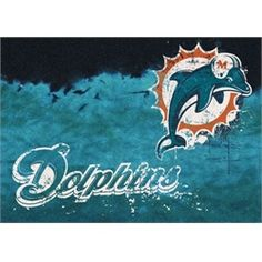 Miami Dolphins Rug Team Fade Mat