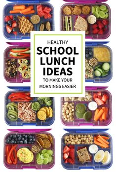 Here's a collection of healthy school lunch ideas to make packed lunches easier for you! Includes a handy printable list that you can stick on your fridge. Baby Food Recipes, Gourmet Recipes, Healthy Recipes, Frugal, Healthy School Lunches, Healthy Packed Lunches, Cold Lunches, Veggie Sandwich, Kid Friendly Meals