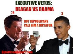 Republicans can't stop calling president Obama a tyrant. Here is a Reagan VS #Obama tyrannical action count.