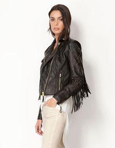 Bershka Serbia - Bershka fringed jacket