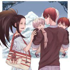 My Hero Academia - Todoroki Shouto x Yaoyorozu Momo - TodoMomo My Hero Academia Shouto, My Hero Academia Episodes, Hero Academia Characters, Manga Couples, Cute Anime Couples, Manga Family, Chibi, Hiro Big Hero 6, Fanart