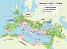 """There were 46 provinces under Trajan, a figure that would grow to 96 by the reign of Diocletian (285-305). In Trajan's time, provinces in the interior of the country were run by governors chosen by the Senate, a legislative body run by leading aristocrats. In contrast, border provinces were run by governors named directly by the emperor."""