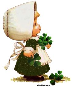 Patrick's mug rugs St Patricks Day Cards, Happy St Patricks Day, Old Irish Blessing, Decoupage, Cute Kids Pics, Pix Art, Sarah Kay, St Paddys Day, Holly Hobbie