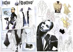 ILLUSTRATION || Mixture of fashion photographs and illustrations, sketchbook