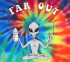 Far Out Alien Tie Dye Shirt