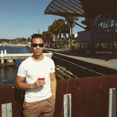 Geelong.  Beautiful town!  #24 #coffeearoundtheworld #geelong #sunday #coffee #latte #localcoffee #juliusmeinl #caffeine #instacoffee #instagram #ilovecoffee #instadaily #geelongwaterfront #sunshine #coffeehitau #followme #weekend #theweeknd by namified http://ift.tt/1JtS0vo