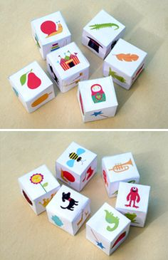 Cute Story telling printable dice by Happythought! Click here to download http://printablepaperproducts.com/printable-crafts/story-dice-0-95