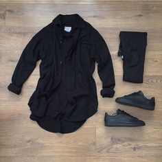 WEBSTA @ kylescropper - Tonight's attire Represent flannel shirt Khzari 3/4 sleeve teeTopman jeans Adidas Stan smith