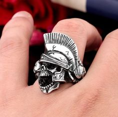 Men's Jewelry Rings, Skull Jewelry, Jewelry Art, Skull Rings, Cool Canes, His And Hers Jewelry, Unusual Rings, Biker Rings, Tungsten Wedding Bands