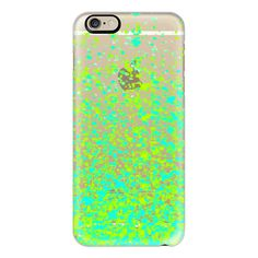 Sparkly lemonade - iPhone 6s Case,iPhone 6 Case,iPhone 6s Plus... ($40) ❤ liked on Polyvore featuring accessories, tech accessories, phone cases, phone, electronics, iphone case, clear iphone case, slim iphone case, iphone cover case and iphone cases