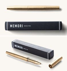 40 Awesome Gift Ideas For Architects And Interior Designers // An elegant brass writing pen.