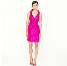 JCrew Blakely dress in silk taffeta