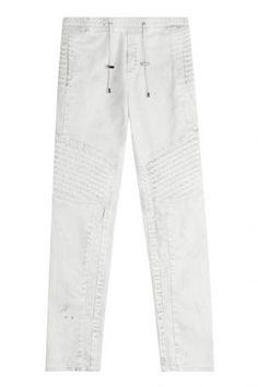 Balmain Balmain Sweatpants im Biker-Stil aus Baumwolle – Weiß