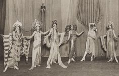 girls being not-so-domestic. 1930s Australian chorus girls in amazing deco outfits.