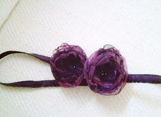 Flower girl headband.... love this idea.