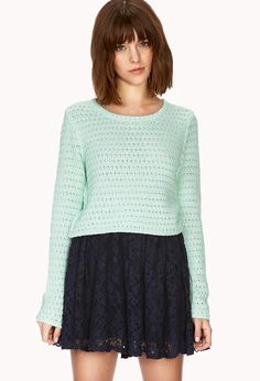Femme Cropped Sweater Forever21 2000090311 Cropped Sweater Green Sweater Clothing Haul