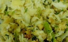 Migas de Bacalhau e Broa | A Cozinhar com simplicidade Portuguese Food, Portuguese Recipes, Potato Salad, Portugal, Ethnic Recipes, Desserts, Pisces, Dishes, Cook