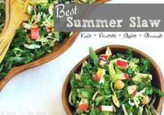 This truly is the best summer slaw recipe! Easy, healthy, & absolutely delicious - guaranteed to make you the hit of your next summer picnic or BBQ dinner! Summer Salad Recipes, Slaw Recipes, Real Food Recipes, Healthy Recipes, Healthy Dinners, Veggie Recipes, Delicious Recipes, Healthy Foods, Free Recipes