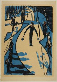 Ernst Ludwig Kirchner, Ski Jump, Harvard Art Museums/Fogg Museum