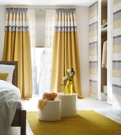 Curtains are one of the most important parts of home improvement design. Different types of curtains may even affect the decorative design style of the whole house. Unique Curtains, Home Curtains, Modern Curtains, Curtains Living, Custom Drapes, Curtains With Blinds, Large Window Curtains, Room Color Schemes, Room Colors