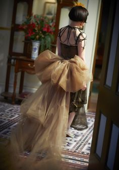 """Known as """"The Showstopper"""", this stunning dress is currently on display at Ripponlea as part of the National Trust of Australia (Victoria)'s Miss Fisher costume exhibition."""