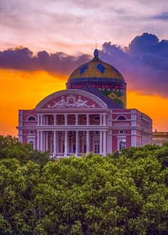 Amazon Theatre in Manaus, the gateway to the Amazon. A beautiful 19th century construction from the days of the rubber barons in the Amazon