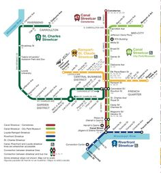 Streetcars In New Orleans Map.49 Best New Orleans Images New Orleans Louisiana New Orleans
