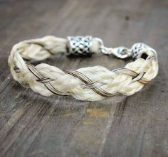 Horse Hair Bracelet  Horsehair Jewelry for Him  Horse Lover